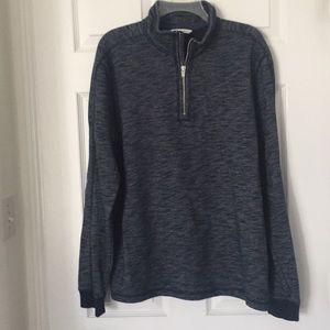 Calvin Klein Jeans 1/4 Zip Navy Heather Pullover